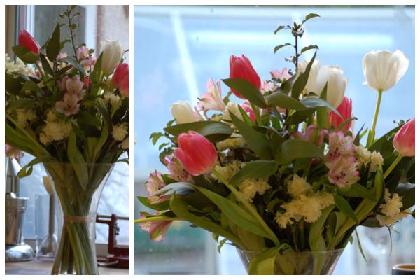 Week old valentine bouquet