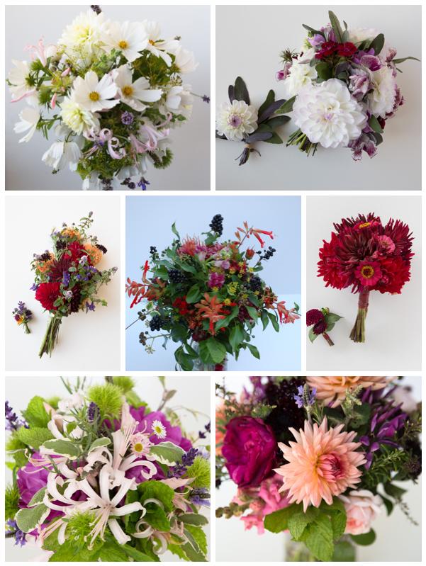 Wedding bouquet montage