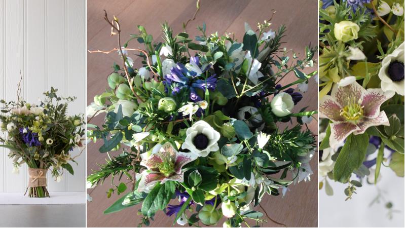 Anemone bouquet montage