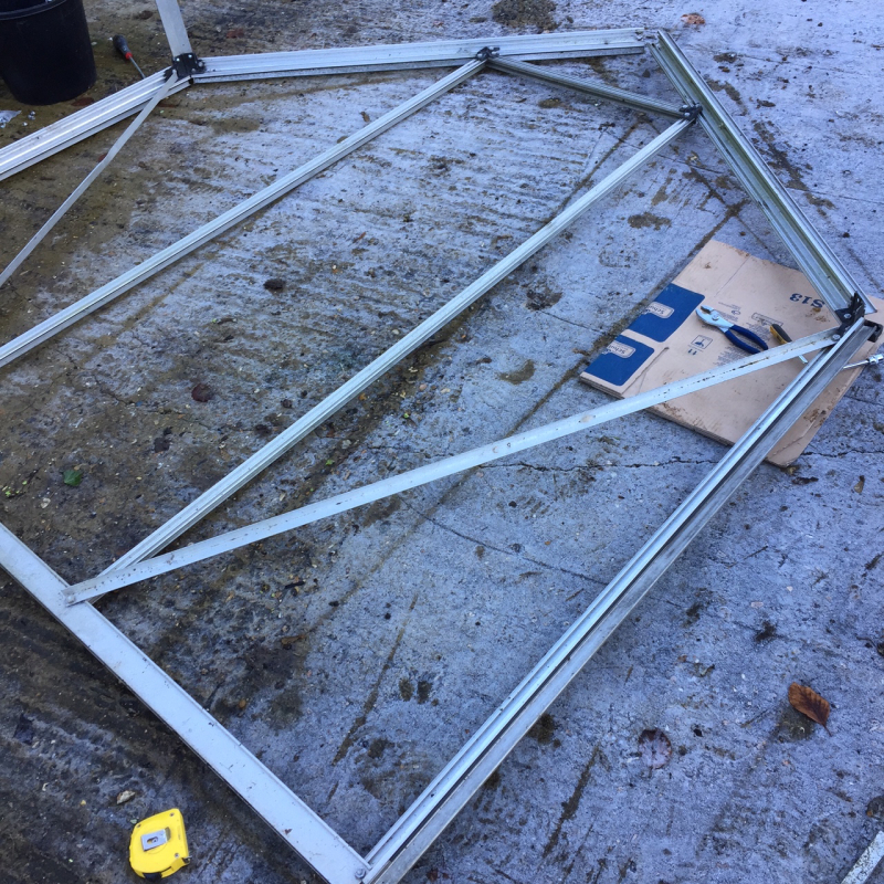 Greenhouse erection
