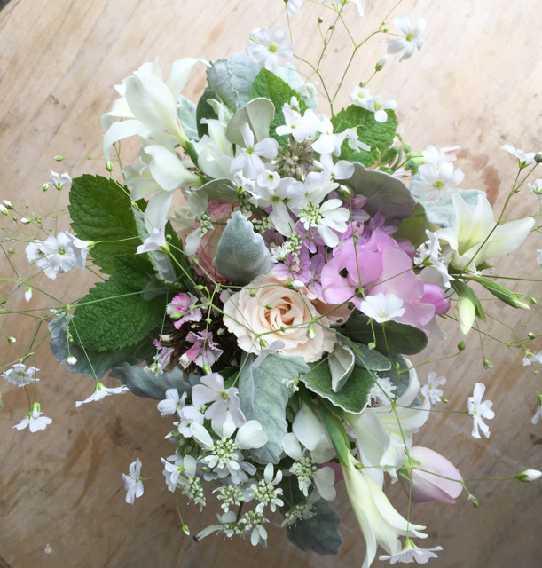 End of May wedding bouquet