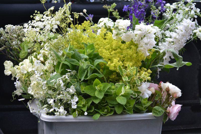 DIY flowers in boot