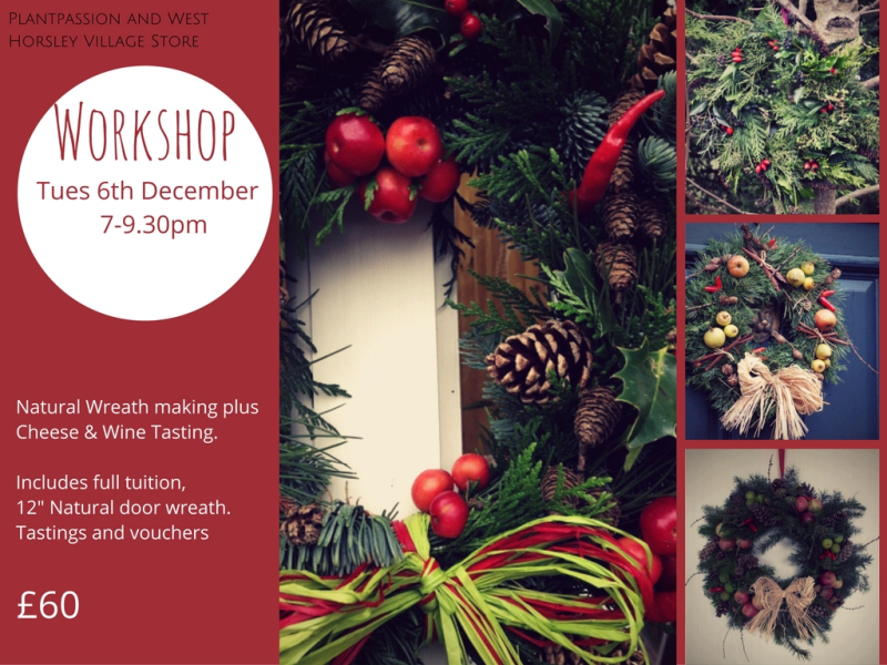 Wreath workshop flyer design