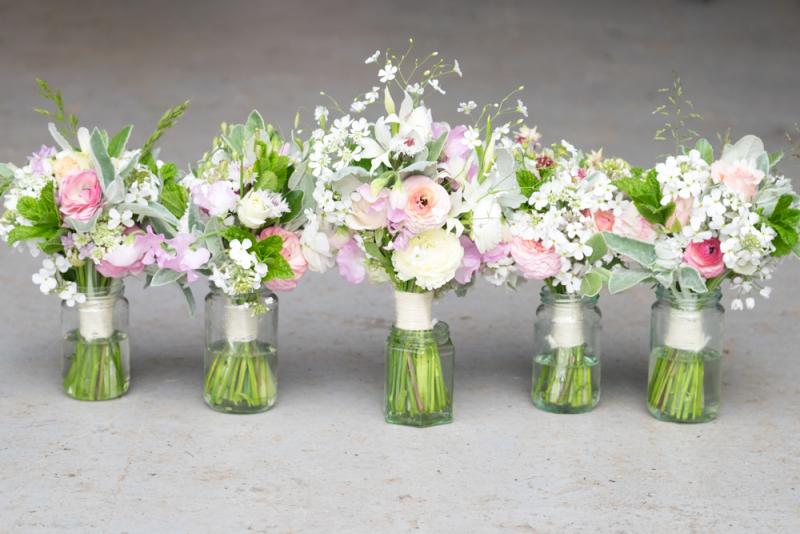 Bride and 4 bridesmaids-1