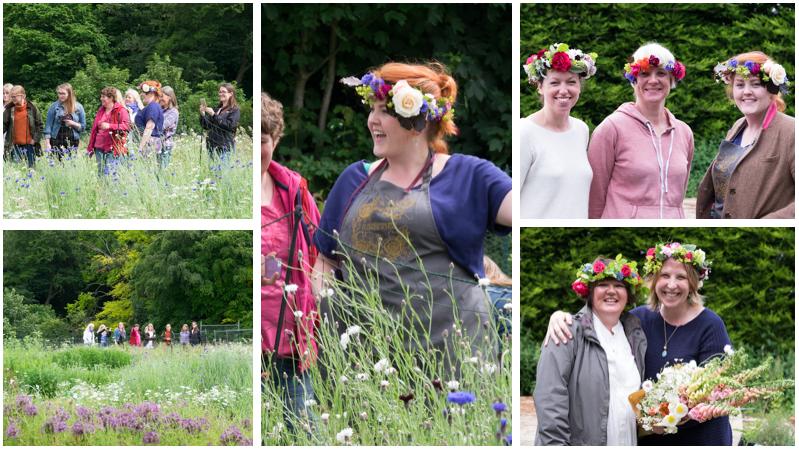 Floral crown montage