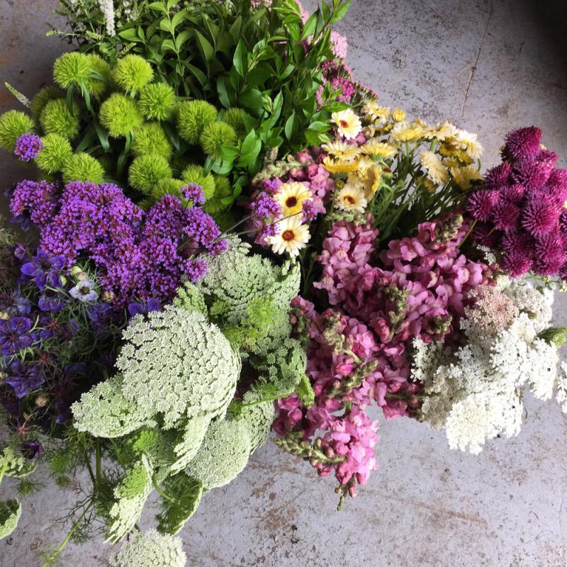 DIY box of flowers