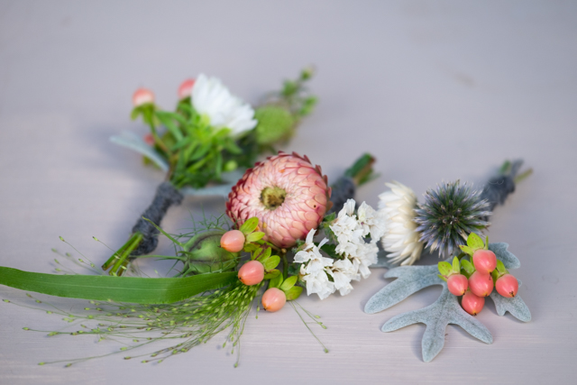 Autumn buttonholes