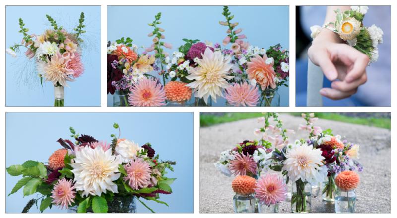 October peach wedding